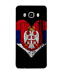 ColorKing Football Serbia 05 Black shell case cover for Samsung J5 2016