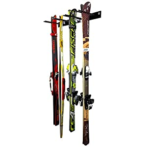 StoreYourBoard Ski Wall Storage Rack | Steel Home and Garage Skis Mount