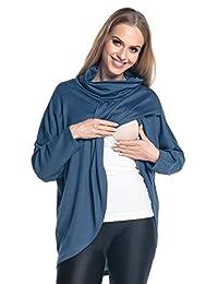 Happy Mama. Womens Maternity Nursing Wrap Top Thin Knitwear Double Layer. 370p