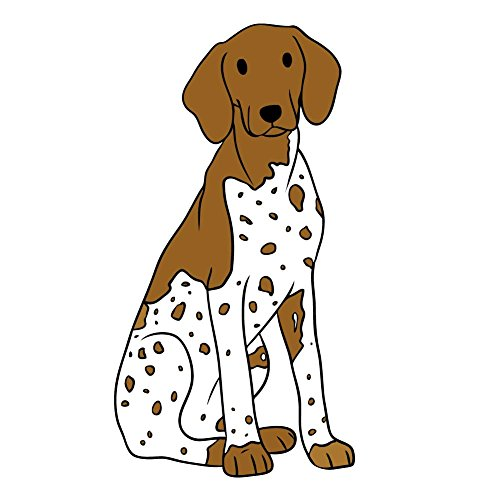 - Lilly The German Shorthaired Pointer Dog - 4 Inch Full Color Vinyl Decal for Indoor or Outdoor use, Cars, Laptops, Décor, Windows, and more