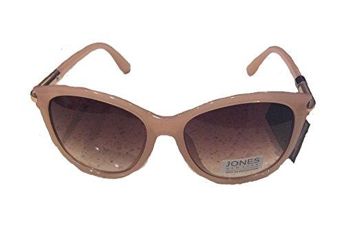 Jones New York Women's Rectangular Wrap Sunglasses, Blush/Gradient Brown Lens, One - Jones Sunglasses