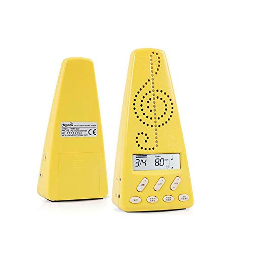 Alician Cherub WMT-220 Electronic Metronome Guitar Piano Drum Musical Instrument General Rhythm with Pickup Clip Yellow