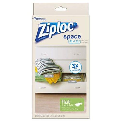 031810700118 - Ziploc Space Bag,  XL Flat Bag, 2 Count carousel main 0