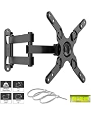 1home Articulating Full Motion TV Wall Mount Bracket for 13''-37'' LCD LED TVs, Tilts Swivels Rotates Extends, Holds up to 25 kg, Max VESA 200X200mm