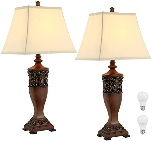 30″H Bedside Table Lamp Set of 2