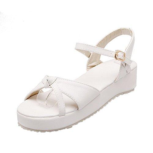 Open Bianco Heel Sandali Women Toe Mini Dress Aalardom tsmlh005904 qvFtOO