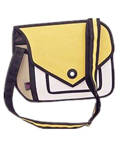 Baonmy 3D Style 2D Drawing Cartoon Handbag Shoulder Canvas Messenger Bag