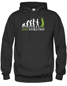 GOLF EVOLUTION - HERREN UND DAMEN - HOODIE in Schwarz by Jayess Gr. L
