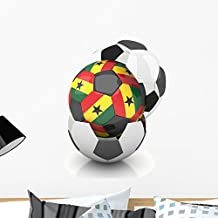 Ghana Soccer Ball White by Wallmonkeys Peel and Stick Graphic (24 in H x 18 in W) WM140150