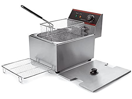 Hindchef Commercial Stainless Steel Deep Fryer (6L, Silver) Deep Fat Fryers at amazon