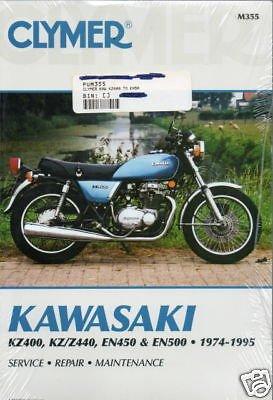 1974-95 KAWASAKI KZ400,KZ/Z440,EN450,EN500 SERV MANUAL (Kawasaki En500 Manual)
