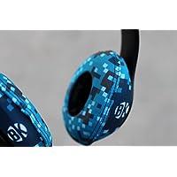 Beat Kicks Washable Headphone Covers - Digicamo Blue