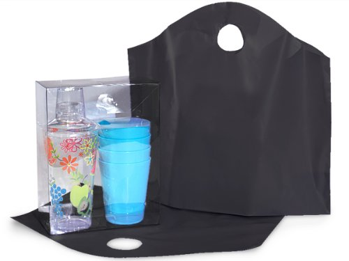 BLACK Wave Top Plastic Bags MEDIUM18x15x6'' 100% Recycled 2.25 mil 1 unit, 250 pack per unit.
