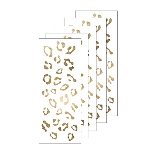Gold Cheetah Print Temporary Tattoos (5 pack) | Skin Safe | MADE IN THE USA| Removable]()