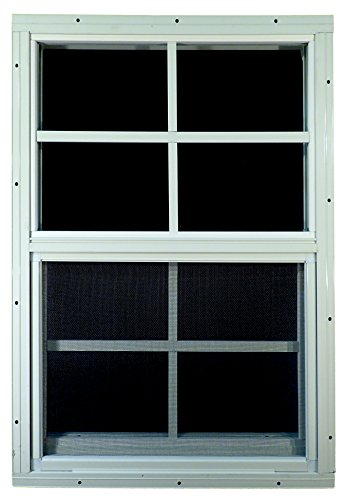 "Shed Windows 18"" W x 27"" H - Flush Mount - Playhouse Windows (White)"