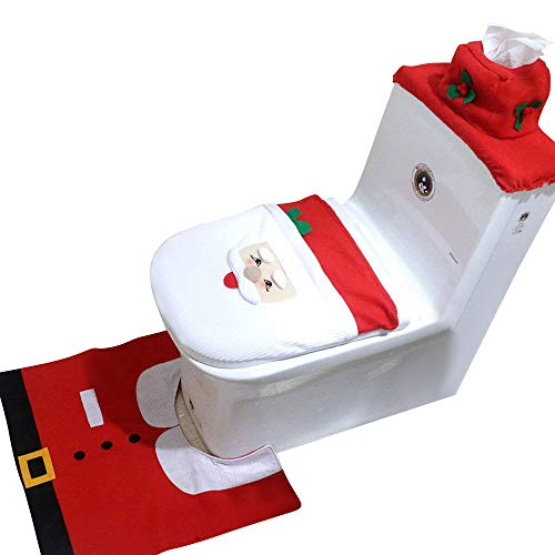 Amorus 3pcs Toilet Seat Cover Amp Rug Amp Toilet Tank
