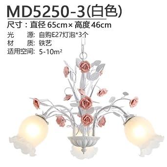 BESPD Landhausstil Pendelleuchte Warm Romantischen Schlafzimmer Wohnzimmer  Lampe Pendelleuchte Restaurant Blumen Lampen Für Dekoration, 1
