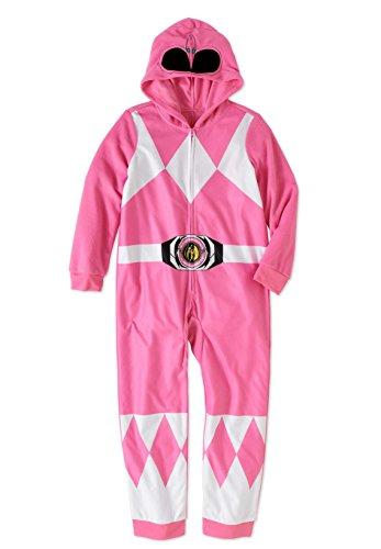 Power Ranger Girls' Big Pink Critter Pajama, 10