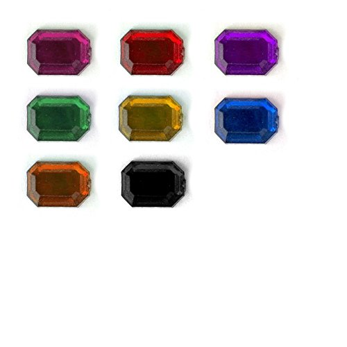 Octagon Jewels (The Crafts Outlet 144-Piece Quality Acrylic Aluminum Foil Flat Back Octagon Rectangle Rhinestones, 13 by 18mm, Jewel Tone Assortment)