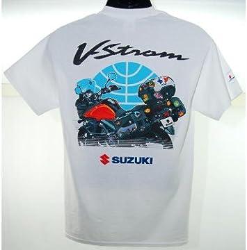 Suzuki VSTROM V-STROM DL650/1000 Viaje camiseta blanco: Amazon.es ...