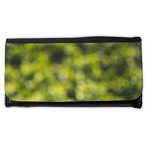 le portefeuille de grands luxe femmes avec beaucoup de compartiments // M00156225 Fondo verde de Bokeh // Large Size Wallet