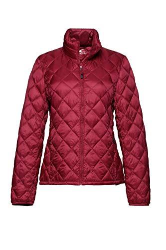 (XPOSURZONE Women Packable Down Jacket Lightweight Puffer Coat True Red L)