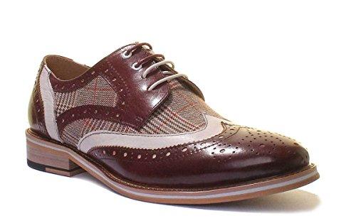 Homme Chaussures Manley Reece Justin A Lacets Ville De À Pour Wine UaSf8wq