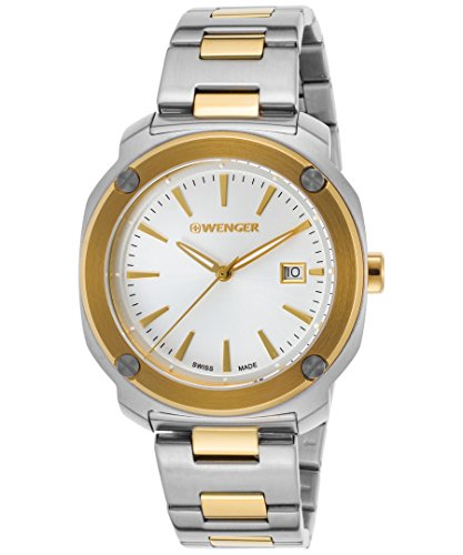 Wenger 01-1141-115 Men's Edge Index Ss And Gold-Tone Ss Silver-Tone Dial Watch