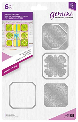 Gemini Die - Create-a-Card - Swirls Patchwork, Silver, Various