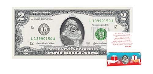 (Official Santa Claus $2 Dollar Bill. Real USD. Perfect Stocking Stuffer)