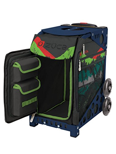Zuca Into the Woods Sport Insert Bag and Navy Blue Frame with Flashing Wheels by ZUCA (Image #1)'