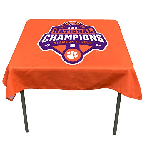 College Flags and Banners Co. Clemson Tigers 2018 National Champions Logo Tablecloth or Table Overlay