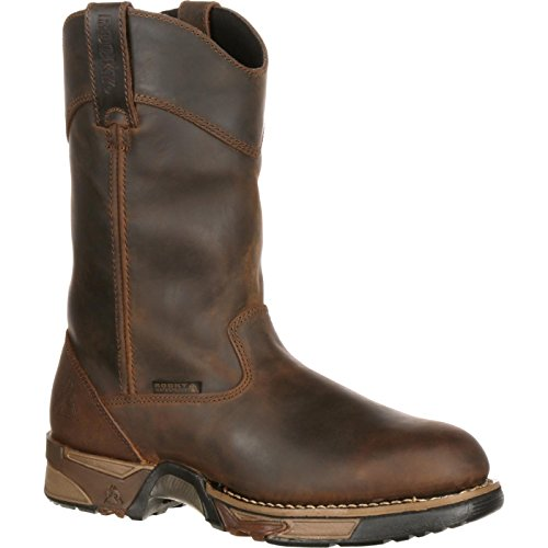 Wellington Rocky Mens (Rocky Steel Toe Waterproof Wellington Work Boot)