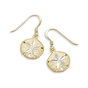 Amazon.com: Sand Dollar Two Tone Gold-plated Sterling