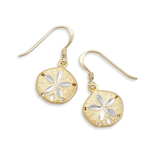 - Sand Dollar Two Tone Gold-plated Sterling Silver Earrings