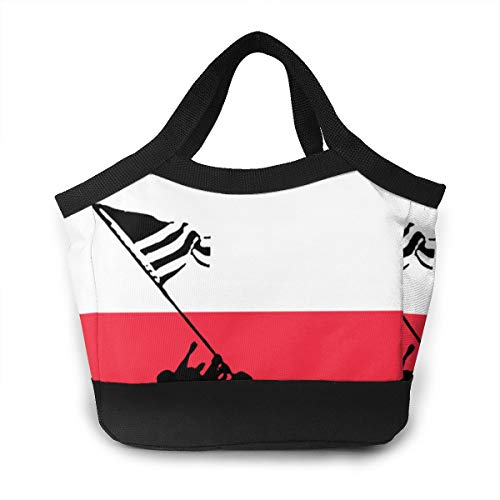 YDIW-BAG2 France Flag Veteran Military Army Waterproof Lunch Bag Zip Lunch Tote for Kids and Adults Lunch Organizer Work Travel and Picnic