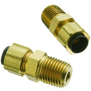 1/4'' Tube x 1/8'' Female NPT Brass Poly-Line Compression Connector, (Package of 5)