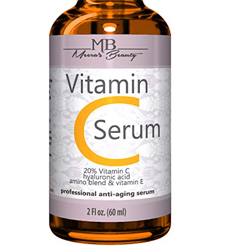 DOUBLE SIZED (2 ounces) PURE VITAMIN C SERUM FOR FACE 20% With Hyaluronic Acid - Anti Wrinkle, Anti Aging, Dark Circles, Age Spots, Vitamin C, Pore Cleanser, Acne Scars, Organic Vegan Ingredients