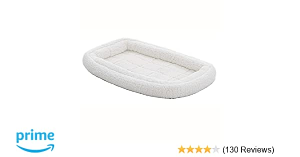 Amazon.com : Double Bolster Pet Bed | 36-Inch Dog Bed ideal for Medium / Large Dog Breeds & fits 36-Inch Long Dog Crates : Pet Supplies