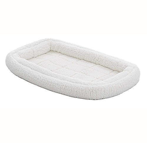 Double Bolster Pet Bed | 30-Inch Dog Bed ideal for Medium Do