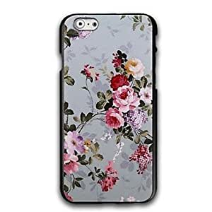 QJM Shivering Flowers Pattern Design Plastic Hard Case for iPhone 6 Plus