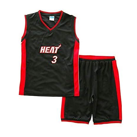 GRYUEN Traje de Ropa de Baloncesto Nino NBA Heat #3 Wade: Amazon ...