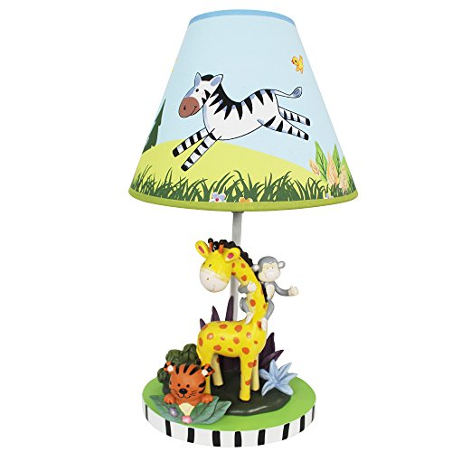 Hand Painted Childrens Tiger (Fantasy Fields - Sunny Safari Animals Thematic Kids Table Lamp | Imagination Inspiring Hand Painted Details   Non-Toxic, Lead Free Water-based Paint)