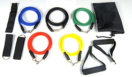 11pcs Resistance Bands Set for Yoga Exercise Fitness/Workout