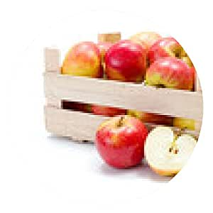 alfombrilla de ratón Las manzanas maduras en madera carta - ronda - 20cm