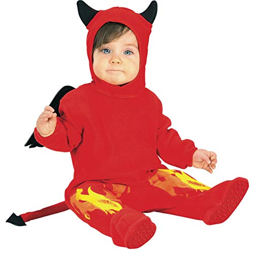 Rubie's EZ-On Romper Costume, Lil' Devil, 6-12 Months ()