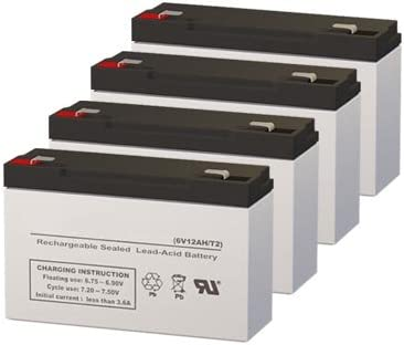 Set of 4 Topaz 800 UPS Replacement Batteries