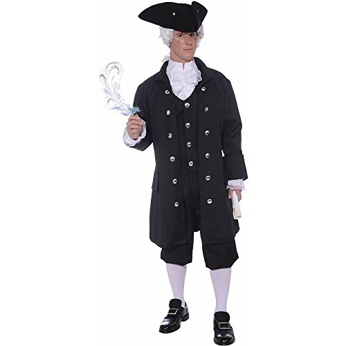 Founding Father Costume - Standard - Chest Size up to 42 (Founding Fathers Costumes)