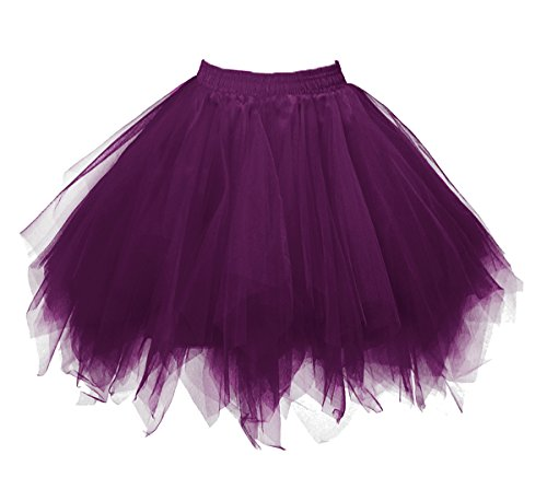 Dressever Vintage 1950s Short Tulle Petticoat Ballet Bubble Tutu Deep Purple Small/Medium for $<!--$19.99-->