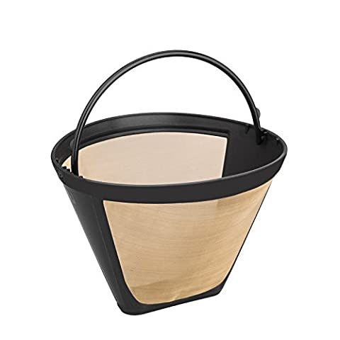 Nicelucky #4 Washable & Reusable Cone Gold Tone Coffee Filter